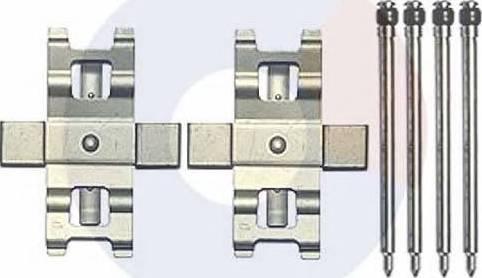 Carrab Brake Parts 2442 - Piederumu komplekts, Disku bremžu uzlikas interparts.lv