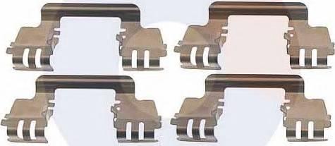 Carrab Brake Parts 2455 - Piederumu komplekts, Disku bremžu uzlikas interparts.lv