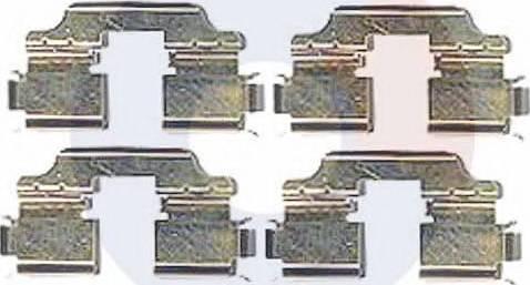 Carrab Brake Parts 2450 - Piederumu komplekts, Disku bremžu uzlikas interparts.lv