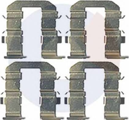 Carrab Brake Parts 2453 - Piederumu komplekts, Disku bremžu uzlikas interparts.lv