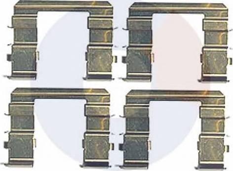 Carrab Brake Parts 2452 - Piederumu komplekts, Disku bremžu uzlikas interparts.lv