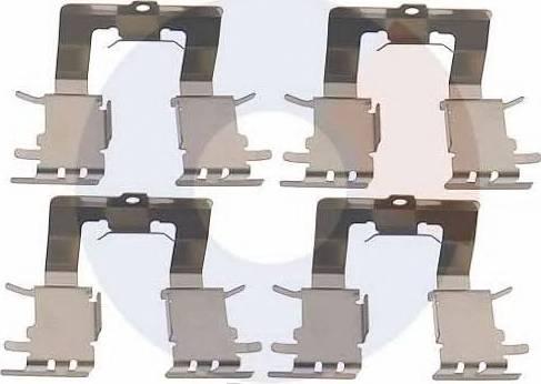 Carrab Brake Parts 2457 - Piederumu komplekts, Disku bremžu uzlikas interparts.lv