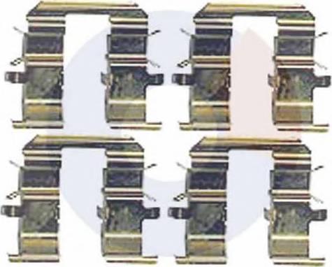 Carrab Brake Parts 2469 - Piederumu komplekts, Disku bremžu uzlikas interparts.lv