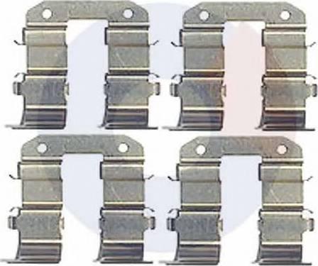 Carrab Brake Parts 2465 - Piederumu komplekts, Disku bremžu uzlikas interparts.lv
