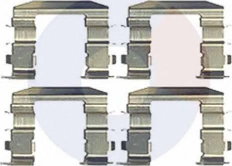 Carrab Brake Parts 2461 - Piederumu komplekts, Disku bremžu uzlikas interparts.lv