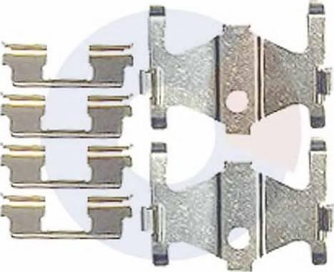 Carrab Brake Parts 2462 - Piederumu komplekts, Disku bremžu uzlikas interparts.lv