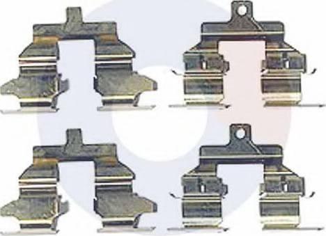 Carrab Brake Parts 2467 - Piederumu komplekts, Disku bremžu uzlikas interparts.lv