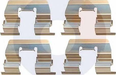 Carrab Brake Parts 2404 - Piederumu komplekts, Disku bremžu uzlikas interparts.lv