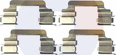 Carrab Brake Parts 2406 - Piederumu komplekts, Disku bremžu uzlikas interparts.lv