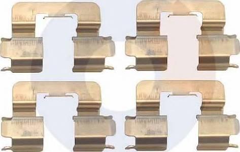 Carrab Brake Parts 2403 - Piederumu komplekts, Disku bremžu uzlikas interparts.lv
