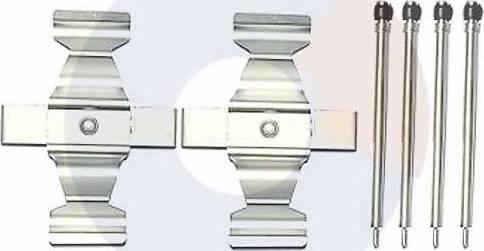 Carrab Brake Parts 2414 - Piederumu komplekts, Disku bremžu uzlikas interparts.lv