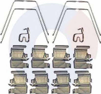 Carrab Brake Parts 2415 - Piederumu komplekts, Disku bremžu uzlikas interparts.lv