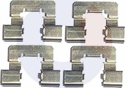 Carrab Brake Parts 2410 - Piederumu komplekts, Disku bremžu uzlikas interparts.lv