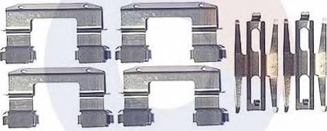 Carrab Brake Parts 2418 - Piederumu komplekts, Disku bremžu uzlikas interparts.lv