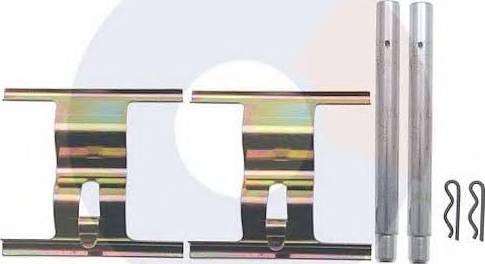 Carrab Brake Parts 2413 - Piederumu komplekts, Disku bremžu uzlikas interparts.lv
