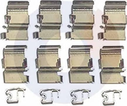Carrab Brake Parts 2412 - Piederumu komplekts, Disku bremžu uzlikas interparts.lv