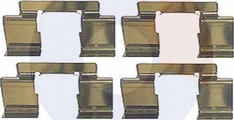 Carrab Brake Parts 2484 - Piederumu komplekts, Disku bremžu uzlikas interparts.lv