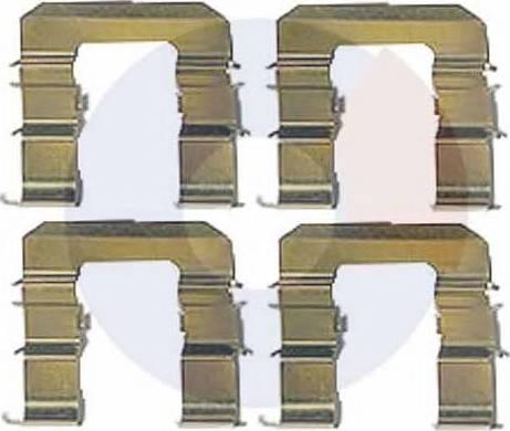Carrab Brake Parts 2485 - Piederumu komplekts, Disku bremžu uzlikas interparts.lv