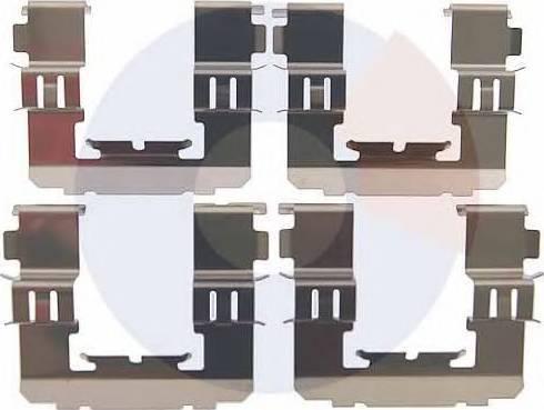 Carrab Brake Parts 2486 - Piederumu komplekts, Disku bremžu uzlikas interparts.lv