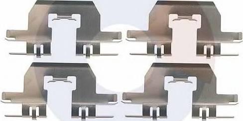 Carrab Brake Parts 2483 - Piederumu komplekts, Disku bremžu uzlikas interparts.lv
