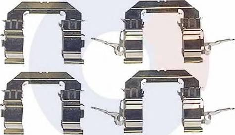 Carrab Brake Parts 2482 - Piederumu komplekts, Disku bremžu uzlikas interparts.lv