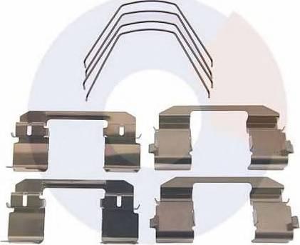 Carrab Brake Parts 2487 - Piederumu komplekts, Disku bremžu uzlikas interparts.lv