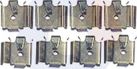 Carrab Brake Parts 2434 - Piederumu komplekts, Disku bremžu uzlikas interparts.lv