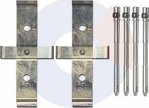 Carrab Brake Parts 2435 - Piederumu komplekts, Disku bremžu uzlikas interparts.lv