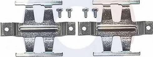 Carrab Brake Parts 2431 - Piederumu komplekts, Disku bremžu uzlikas interparts.lv
