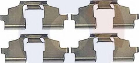Carrab Brake Parts 2432 - Piederumu komplekts, Disku bremžu uzlikas interparts.lv