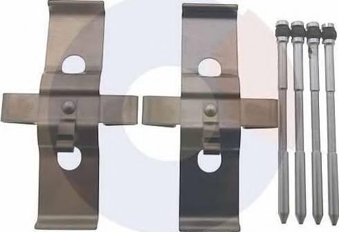 Carrab Brake Parts 2437 - Piederumu komplekts, Disku bremžu uzlikas interparts.lv