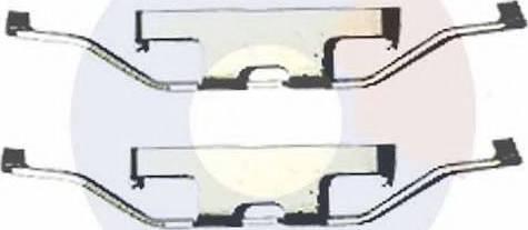 Carrab Brake Parts 2429 - Piederumu komplekts, Disku bremžu uzlikas interparts.lv