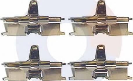 Carrab Brake Parts 2425 - Piederumu komplekts, Disku bremžu uzlikas interparts.lv
