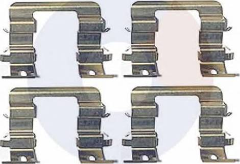 Carrab Brake Parts 2426 - Piederumu komplekts, Disku bremžu uzlikas interparts.lv