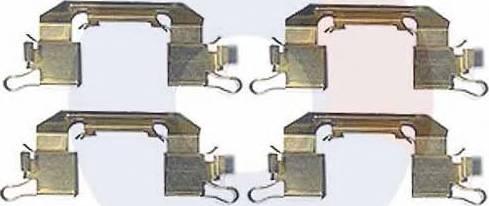 Carrab Brake Parts 2420 - Piederumu komplekts, Disku bremžu uzlikas interparts.lv