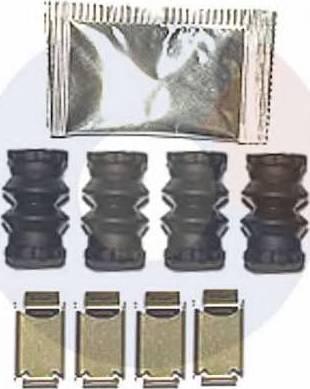Carrab Brake Parts 2474 - Piederumu komplekts, Disku bremžu uzlikas interparts.lv