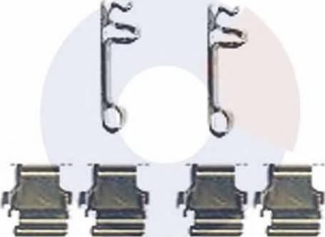 Carrab Brake Parts 2476 - Piederumu komplekts, Disku bremžu uzlikas interparts.lv