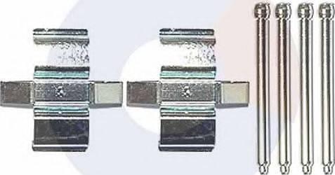 Carrab Brake Parts 2471 - Piederumu komplekts, Disku bremžu uzlikas interparts.lv