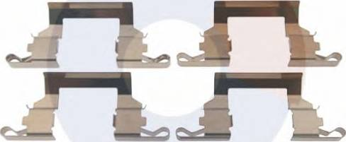 Carrab Brake Parts 2478 - Piederumu komplekts, Disku bremžu uzlikas interparts.lv