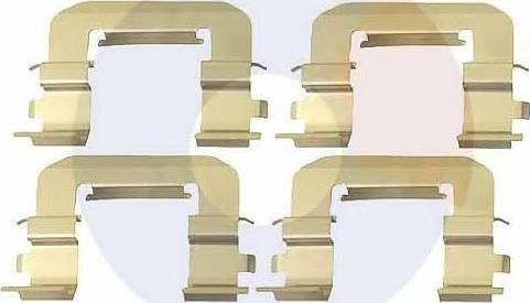 Carrab Brake Parts 2473 - Piederumu komplekts, Disku bremžu uzlikas interparts.lv