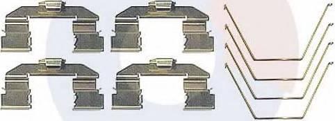 Carrab Brake Parts 2477 - Piederumu komplekts, Disku bremžu uzlikas interparts.lv