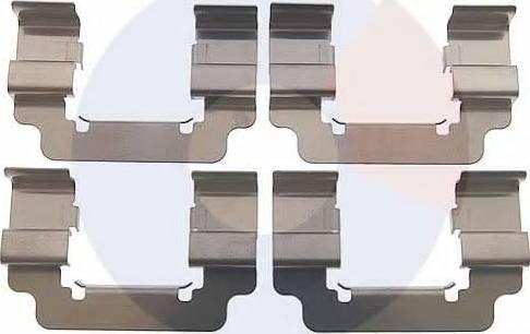 Carrab Brake Parts 2508 - Piederumu komplekts, Disku bremžu uzlikas interparts.lv