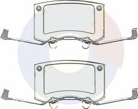 Carrab Brake Parts 2507 - Piederumu komplekts, Disku bremžu uzlikas interparts.lv