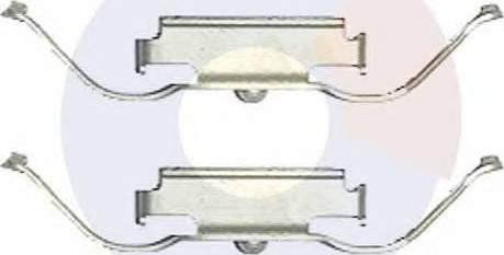 Carrab Brake Parts 2519 - Piederumu komplekts, Disku bremžu uzlikas interparts.lv