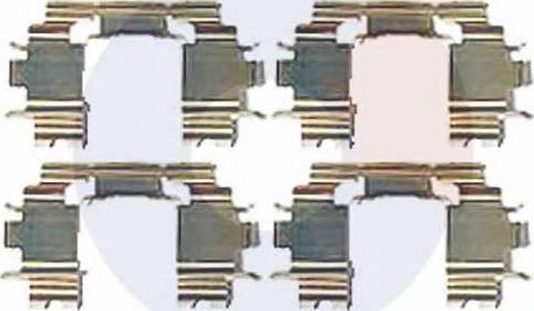 Carrab Brake Parts 2514 - Piederumu komplekts, Disku bremžu uzlikas interparts.lv