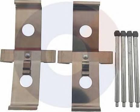 Carrab Brake Parts 2510 - Piederumu komplekts, Disku bremžu uzlikas interparts.lv
