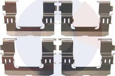 Carrab Brake Parts 2511 - Piederumu komplekts, Disku bremžu uzlikas interparts.lv