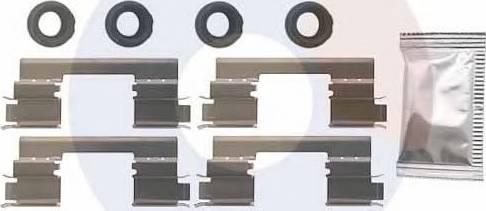Carrab Brake Parts 2525 - Piederumu komplekts, Disku bremžu uzlikas interparts.lv