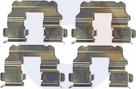 Carrab Brake Parts 2526 - Piederumu komplekts, Disku bremžu uzlikas interparts.lv