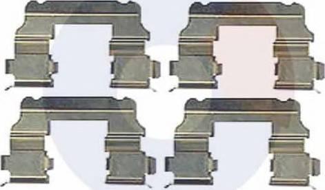 Carrab Brake Parts 2521 - Piederumu komplekts, Disku bremžu uzlikas interparts.lv